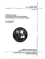Workshop Summary: Aircraft Mission Measurement Strategies for the NASA Subsonic Assessment Program