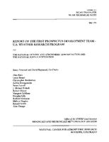 Report of the First Prospectus Development Team - U.S. Weather Research Program