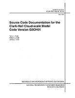 Source Code Documentation for the Clark-Hall Cloud-scale Model Code Version G3CH01