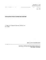 CEDAR Database Committee Report