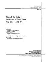 Atlas of the Global Distribution of Total Ozone July 1957 - June 1967
