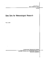 Data Sets for Meteorological Research
