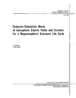 Computer-simulation Movie of Ionospheric Electric Fields and Currents for a Magnetospheric Substorm Life Cycle