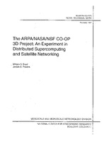 The ARPA/NASA/NSF CO-OP 3D Project: An experiment in distributed supercomputing and satellite networking