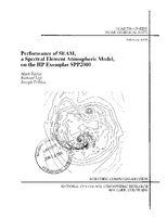 Performance of SEAM, a Spectral Element Atmospheric Model, on the HP Exemplar SPP2000