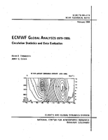 ECMWF Global Analyses 1979-1986: Circulation Statistics and Data Evaluation