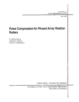Pulse Compression for Phased Array Weather Radars