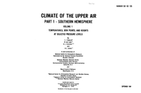 Climate of the Upper Air: Southern Hemisphere: Volume 1: Temperatures, Dew Points, and Heights at Selected Pressure Levels