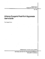 Airborne Cryogenic Frost-point Hygrometer User's Guide