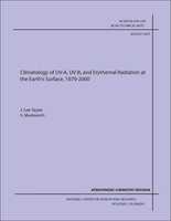 Climatology of UV-A, UV-B, and Erythemal Radiation at the Earth's Surface, 1979-2000 / J. Lee-Taylor, S. Madronich