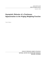 Asymptotic Behavior of a Continuous Approximation to the Kriging Weighting Function