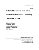 Technical Description of an Urban Parameterization for the Community Land Model (CLMU)