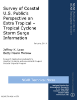 Survey of coastal U.S. public's perspective on extra tropical - tropical cyclone storm surge information