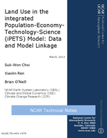 Land use in the integrated Population-Economy-Technology-Science (iPETS) model: Data and model linkage