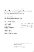Meso-Micrometeorological Requirements for the Atmospheric Sciences