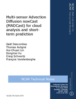 Multi-sensor Advection Diffusion nowCast (MADCast) for cloud analysis and short-term prediction