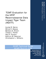 TCMT Evaluation for the HFIP Reconnaissance Data Impact Tiger Team (RDITT)