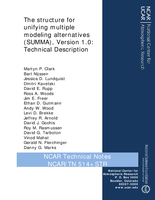 The structure for unifying multiple modeling alternatives (SUMMA), Version 1.0: Technical Description