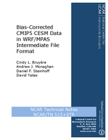 Bias-Corrected CMIP5 CESM Data in WRF/MPAS Intermediate File Format