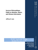 Survey of Mozambique Public on Weather, Water, and Climate Information
