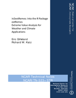 in2extRemes: Into the R package extRemes. Extreme value analysis for weather and climate applications