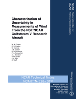 Characterization of Uncertainty in Measurements of Wind from the NSF/NCAR Gulfstream V Research Aircraft