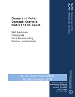 Ozone and Foliar Damage Analysis: NCAR and St. Louis
