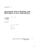 Aerostatic Lift of Helium and Hydrogen in the Atmosphere
