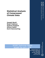 Statistical Analysis of Compressed Climate Data