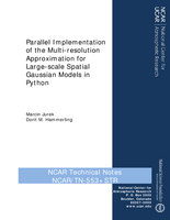 Parallel Implementation of the Multi-resolution Approximation for Large-scale Spatial Gaussian Models in Python