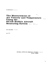 The measurement of air velocity and temperature using the NCAR Buffalo Aircraft Measuring System