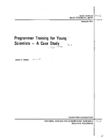 Programmer Training for Young Scientists - a Case Study
