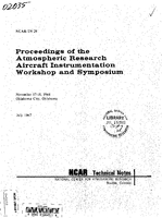 Proceedings of the Atmospheric Research Aircraft Instrumentation Workshop and Symposium, November 17-18, 1966 Oklahoma City, Oklahoma