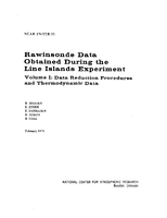 Rawinsonde Data Obtained During the Line Islands Experiment