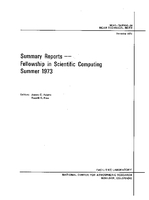 Summary Reports--Fellowship in Scientific Computing Summer 1973