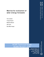 Metrics for Evaluation of Solar Energy Forecasts