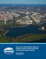 2016 US CLIVAR Predictability, Predictions, & Applications Interface Panel Report