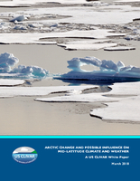 Arctic change and possible influence on mid-latitude climate and weather: A US CLIVAR white paper