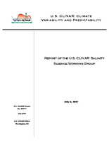 Report of the U.S. CLIVAR Salinity Science Working Group