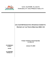 U.S. CLIVAR Scientific Steering Committee Report of the Tenth Meeting (SSC-10)