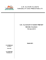 U.S. CLIVAR 2010 Summit Report